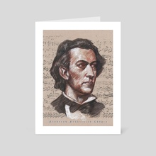 frederic Chopin - Art Card by mamut  rojo