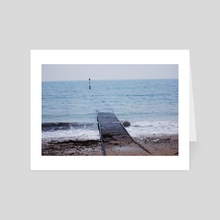 where the water meets the land  - Art Card by Harry James