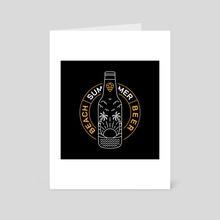 Beer 1 - Art Card by Hafidhuddin El Haq