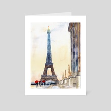 Morning in Paris - Art Card by Maja Wrońska