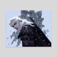 The Witcher - Geralt - Canvas by Stephanie Pepper