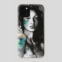 Start With a Strong and Persistent Desire | sexy black woman portrait - Phone Case by Marco Paludet