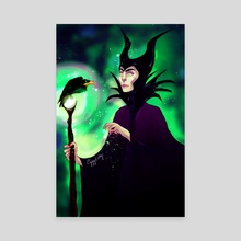 Maleficent - Canvas by Angelica Fatourou