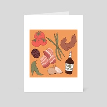 SINIGANG GANG - Art Card by Izzy Marbella