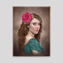 Rose - Canvas by Derrick Villalpando