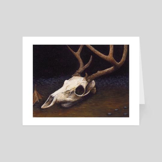 Elk Skull 1 (Oil) by Spencer Gordon
