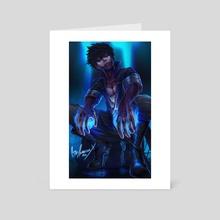 Blue Fire Dabi - Art Card by Darren Anderson