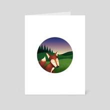 Mr Fox - Art Card by Hanna Stueker
