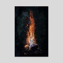 Dark Souls *Bonfire* - Canvas by SucculentBurger