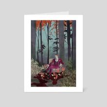 Hannibal in the woods  - Art Card by Julia Scott
