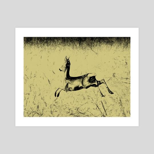 Jumping roebuck by Gvardian Gyula