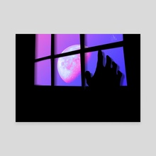 The Moon Is Watching Us - Canvas by Sky Frequencies