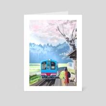 Train Stop - Art Card by Saud I