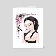 Spring Lady - Art Card by Unkyo Kyra Kim
