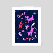 Space Travellers - Art Card by Susann Hoffmann