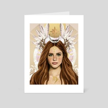 Virgo Season - Art Card by Helena Elias
