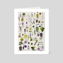 Aromatherapy  - Art Card by Rebecca Bradley