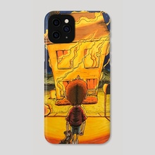 The House in Flames - Phone Case by Christopher Miller