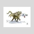 Fetch - Art Print by The Modern Dragon