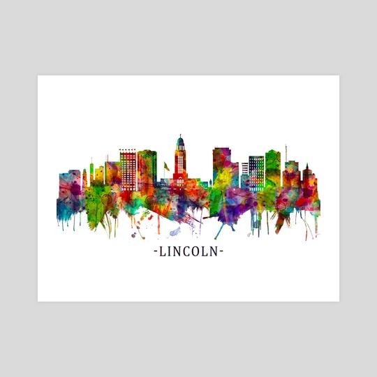Lincoln Nebraska Skyline by Towseef Dar