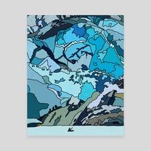 Ice - Canvas by Jordan de Graaf