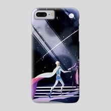 Cosmic love - Phone Case by Julie W.