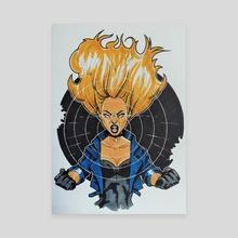 Black Canary cry - Canvas by Nilla Skaalu