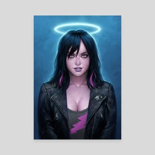 Electric Angel - Canvas by Matt Dixon