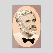 Christoph Waltz - Acrylic by Hannah Wilson