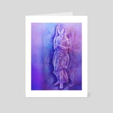Vaporwave Goddess - Art Card by Audrey Reslink