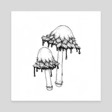 Coprinopsis atramentaria - Canvas by Rekka Bellum