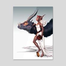 Dragon Queen - Acrylic by Serena Archetti