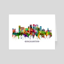 Binghamton New York Skyline - Art Card by Towseef Dar