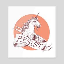 Resist - Acrylic by Rebecca Flaum