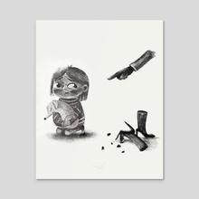 Grounded  - Acrylic by Koaila Art