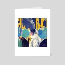 live in space I - Art Card by Sija Hong