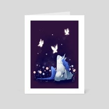 Unicorn -NIght - Art Card by Dani Ve