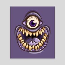 Purple People Eater - Canvas by Jennifer Smith