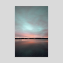 River by night - Canvas by Diogo Leite