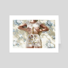 flower guts - Art Card by Anna Demarco
