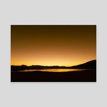 Sunset over Lake Moogerah - Canvas by Namchetolukla