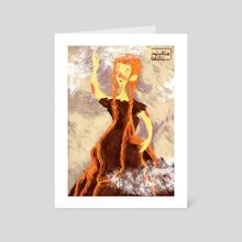 Flowing fire - Art Card by Giullia Ciotola