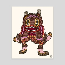 Olmeca Monster of the day (June 2) [Year 1] - Canvas by Royal Glamsters
