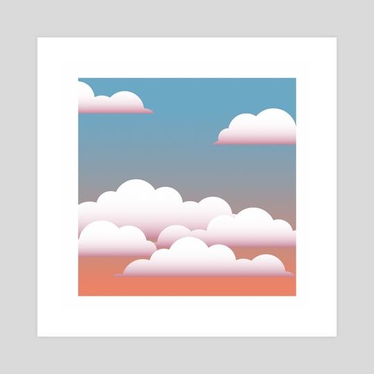 Vector Skies - Peach by Allison McGrath