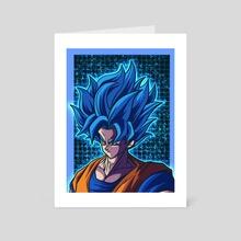 Blue Crusher Super Saiyan Blue Goku - Art Card by Roy The entertainer
