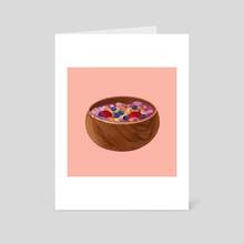 acai bowl - Art Card by Bonnie Gao