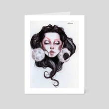 Moon, 2019 - Art Card by Diana Casanova