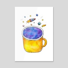 Space Cup - Acrylic by Tania S