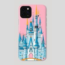 Magic Kingdom Cinderella's Castle Inspired Print - Phone Case by Hayden Evans