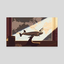 Earhart missing - Canvas by Sasha Schotzko-Harris